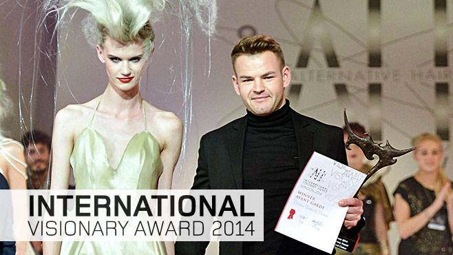 Paweł Babicz zwycięzcą International Visionary Awards podczas Alternative Hair Show 2014